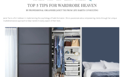 TOP 5 TIPS FOR WARDROBE HEAVEN